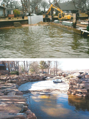 Retaining Walls Cedar Creek Lake, TX - Litchfield Retaining Walls